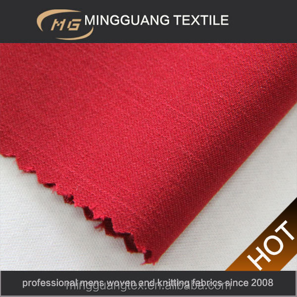 Ladies bright red old fashioned style T/R/SP cloth fabric popular in world