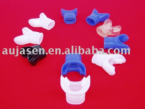 Foodgrade silicone mouth piece for 2nd stage regulator