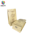 Custom Printed 250g 500g 1kg Flat Bottom Kraft Paper Coffee Packaging with Zipper and Valve