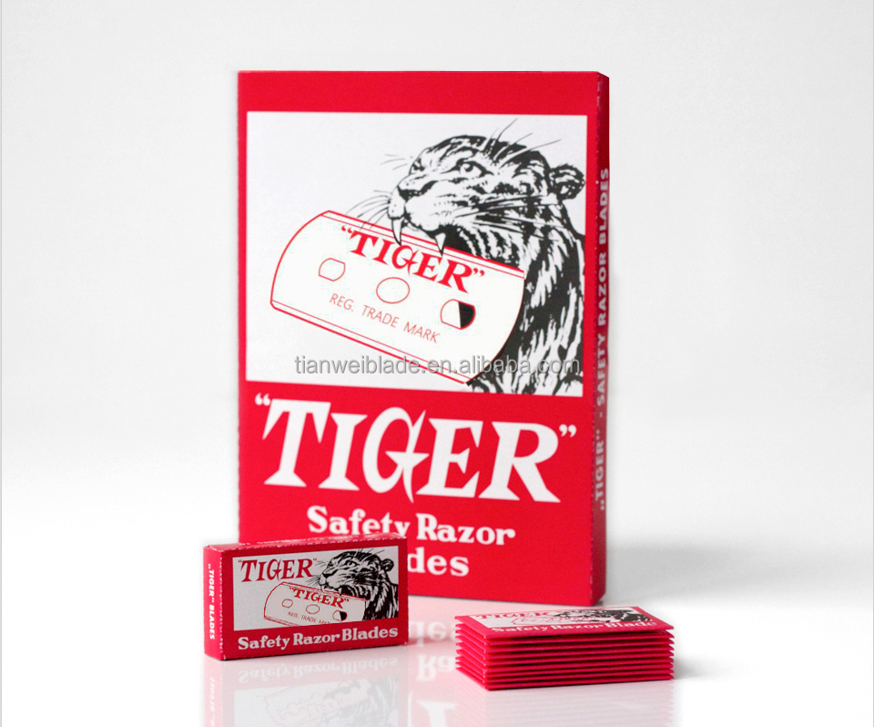 Tiger high quality carbon steel safety razor blade with best price