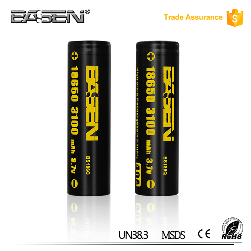 18650 li-ion lithium iron phosphate battery basen 3100mah electric bike battery 48v 20ah