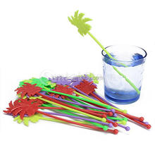 Plastic Tropical Summer Beach Swizzle Sticks