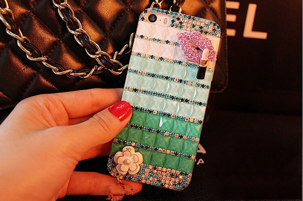 New fashion phone accessories protective luxury diamond phone case for iphone5/6/6plus