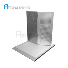 AEOBARRIER Factory sale hot dipped galvanized removable road crowd control barricades for sale for construction