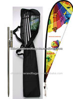 Polyester Customized 4.7 Meter Beach Flag Banner Stand/teardrop Beach Flag Banner Stand