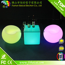 Outdoor party used night club wireless rechargeable rotomolding bar light up plastic led furniture