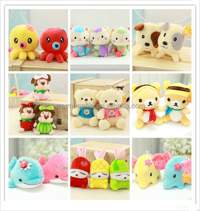 Wholesale all kinds of animals plush toys for crane machine
