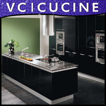 High gloss under cabinet kitchen appliances