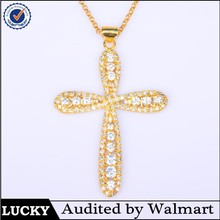 Top Sale Mixed wholesale double gold cross prismatic pendant jewelry scarf