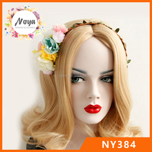 Braided flower hair band, lady artificial flower hair bands