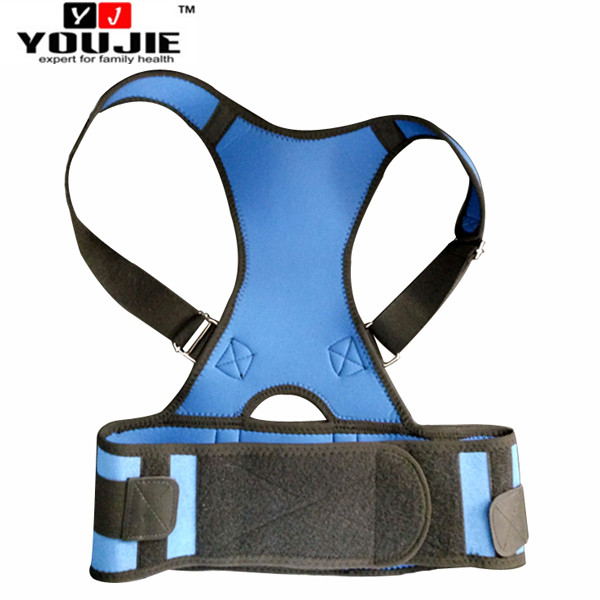 2016 China Youjie New Arrival Adjustable Magnetic lumbar Back Posture Corrector Bands for Office Staff