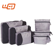 Heavy Duty Canvas Handbags Travel Luggage Packing Pouches Organizer Bags 6 Set Duffle Bags