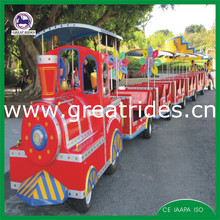 Amusement park train ride little tourist road diesel train for sale