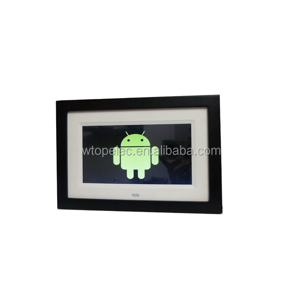 "Hot selling customized 7"" 8"" 9""1 0"" HD wifi android lcd led screen multi-function wooden digital photo frame"