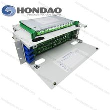 HONDAO High isolation fiber optic patch panel specification LC/PC 24 port 48 Core Fiber Optic Patch Panel (ODF)