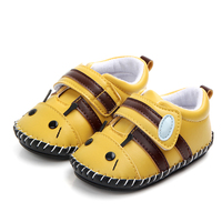 New arrival high quality soft TPR sole handmade cute animal leather baby shoes