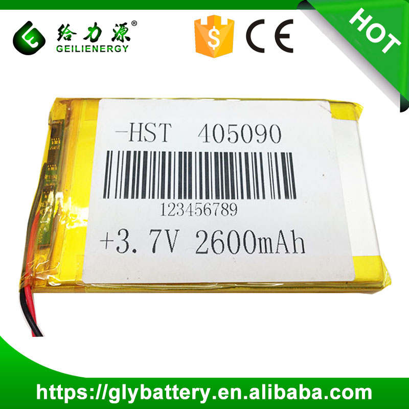 Superior power tools batteries Li-polymer battery 405090 3.7V 2600mAh