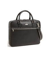 Black Leather Genuine Business Case AP-5009