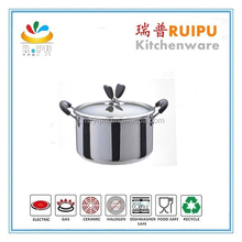 Professional Manufacturer Tri-ply Stainless Steel cook ware noodle cooking pot mini hot pot