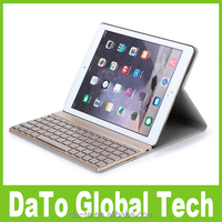 Removable Aluminium Bluetooth Keyboard Cover Case with Backlit For iPad Air 2