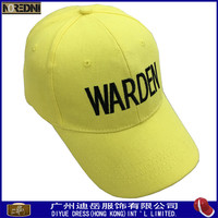 Custom baseball cap sports cap type and cotton material yellow sport caps hats