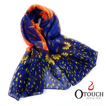 Polyester Blue Scarf 2013 handmade scarves patterns