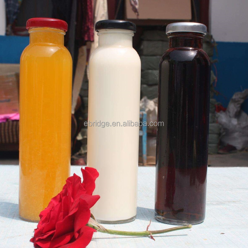 300ml screw metal cap glass juice bottle for drinking