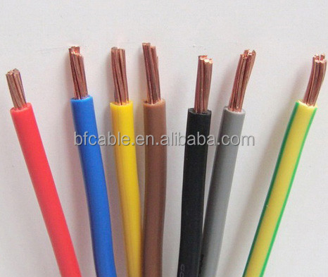 BV/BVR/BVV pvc insulated electric copper electric wire cables 0.5mm - 10mm