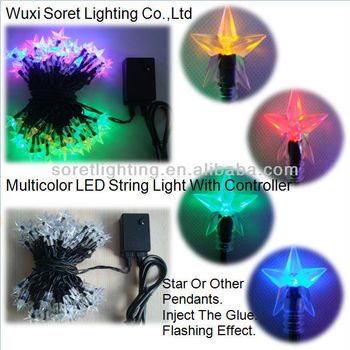 With Star Pendant Decorative LED String Light