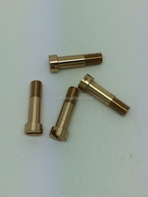 Best quality cotter pin bolt brass electrical pin with slots external thread dowel pins