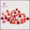 Wholesale 8mm round gemstone orange cubic zirconia jewelry