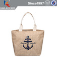 Jute Shopping Bag with Screen Printing Logo
