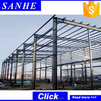 Portal frame steel structure workshop/warehouse turnkey building project supplier