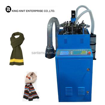machine knit scarf