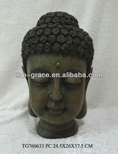 wholesale antique resin buddha head sculpture craft
