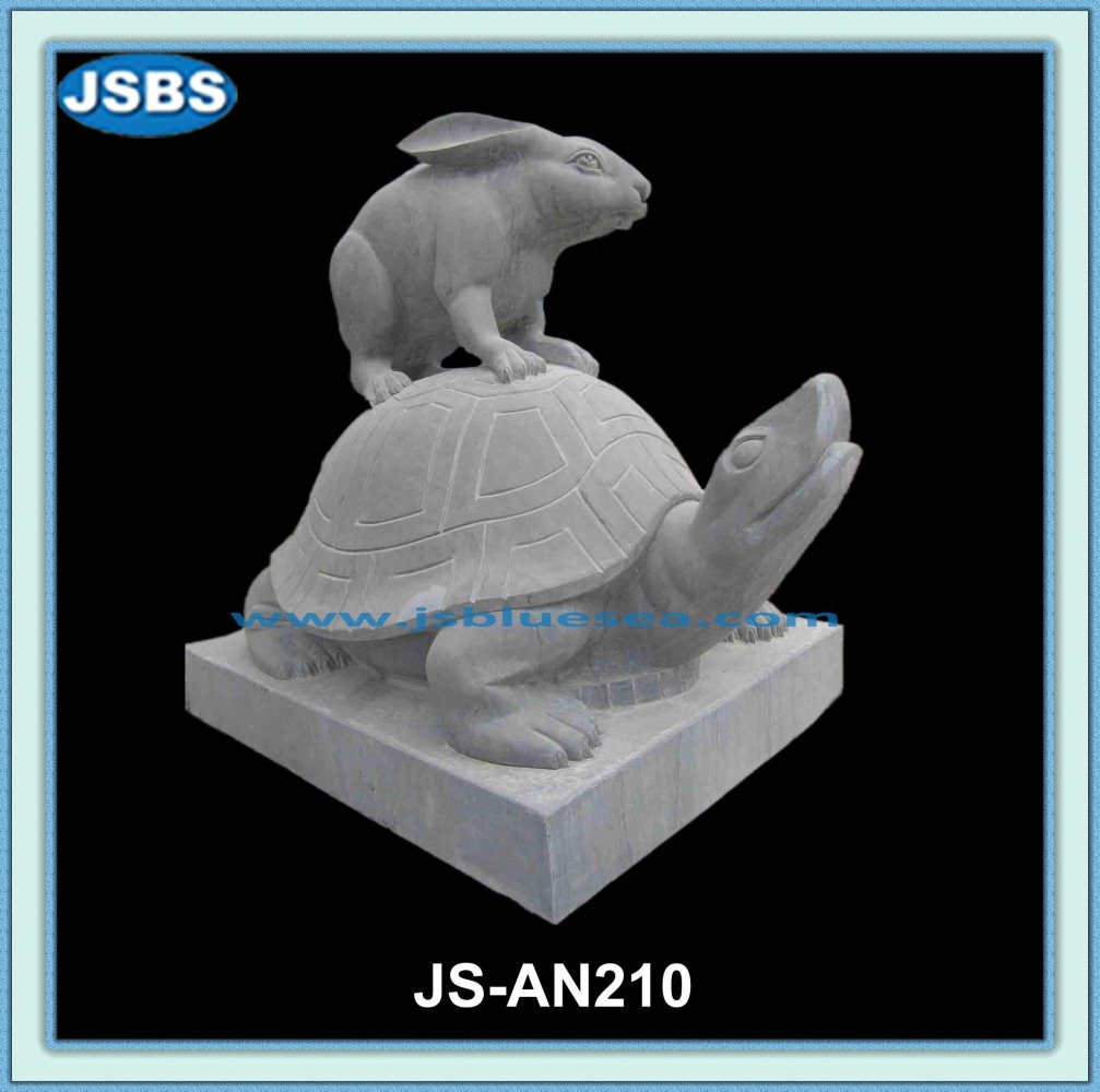 Wholesale Cheap Decorative Carved Stone Garden Rabbit Sculpture