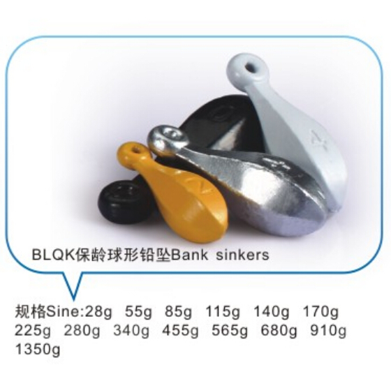 Wholesale lead fishing weights bank sinkers