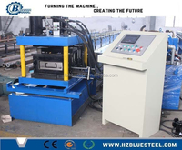 Fully Automatic Cold Steel Strip Profile Used C Z Purlin Roll Forming Machinery