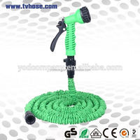 2 hours reply 5-way spray nozzle expandable garden hoses magic expanding