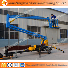 10-14m self propelled articulated boom lift/ hydraulic telescopic boom lift