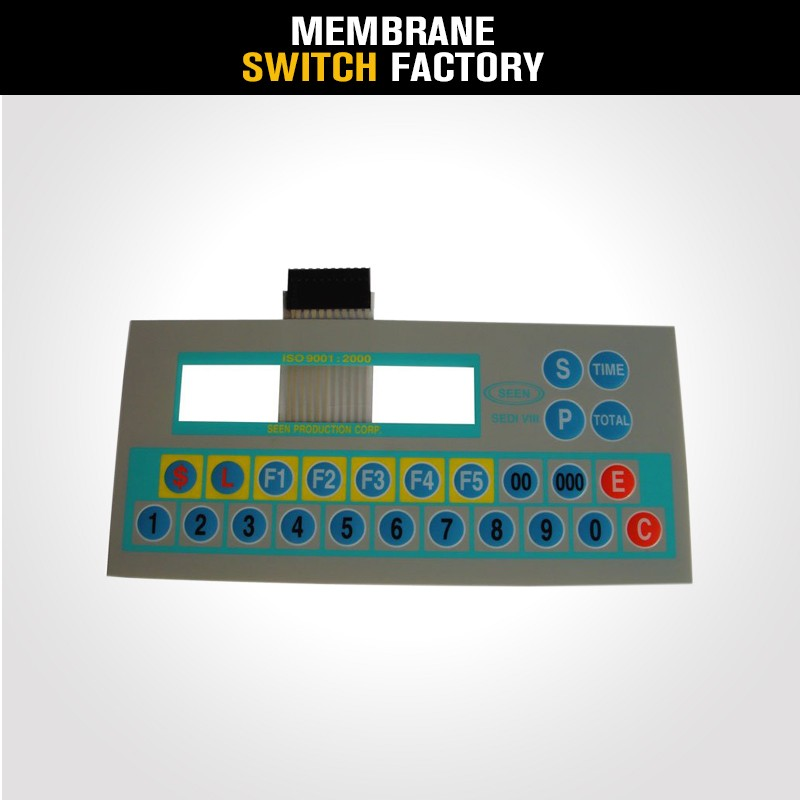 high quality electronic screen printing Membrane Keypad for Machine