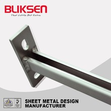 Precision metal holder corner shelf bracket