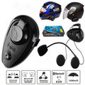 500m Bluetooth Interphone BT Motorcycle Helmet Intercom Communication Headset
