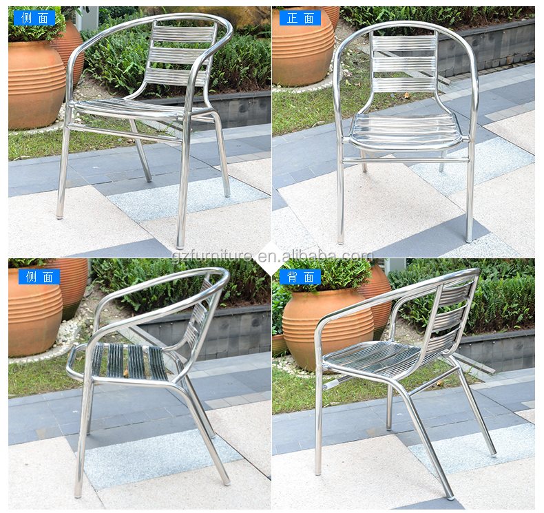 Outdoor aluminum bistro chair