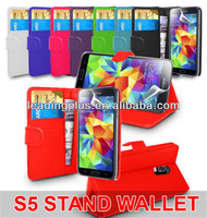 New Book Flip Leather Wallet Case Cover For SAMSUNG Galaxy S5