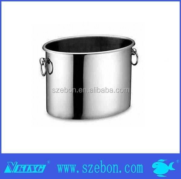 fashionable Stainless steel oval ice bucket