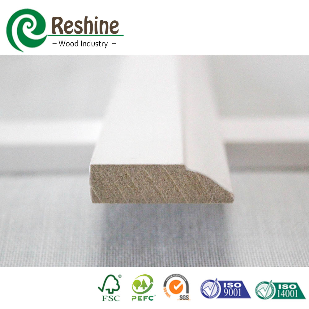 High Quality Flooring Primed Crown Mdf Moulding For Cabinet