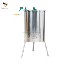 4 frames stainless steel manual hand crank honey extractor honey bee extractor centrifuge for honey