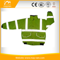 Hi Viz Vis Security Work Contractors Waterproof Padded Hooded Safety Ladies Safety Green Jackets Reflective