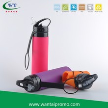 Roll Up Silicone Foldable Drinking Water Bottle